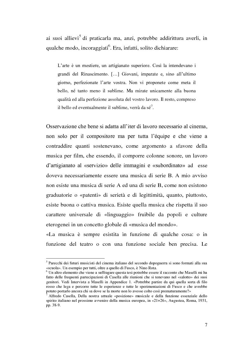 Anteprima della tesi: La musica per film e il cinema moderno. Giovanni Fusco tra Antonioni e Resnais, Pagina 4