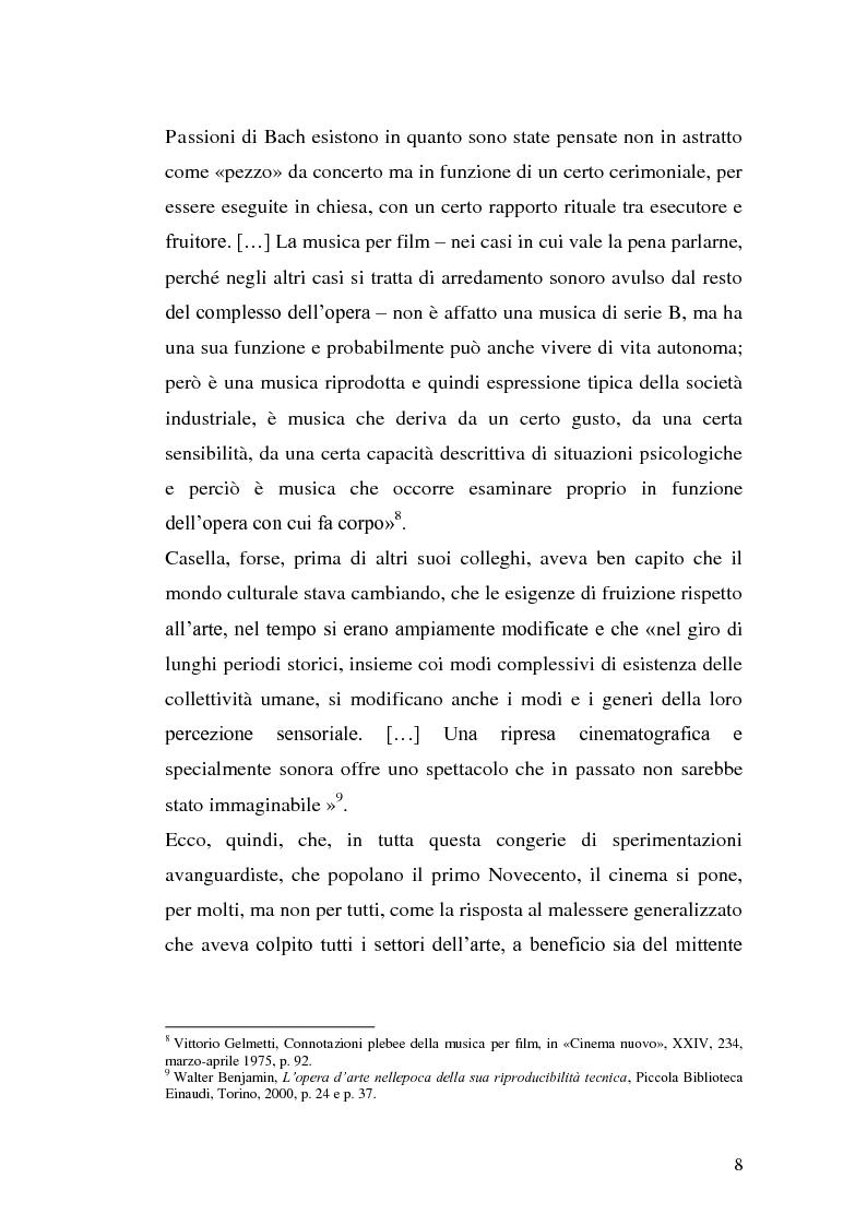 Anteprima della tesi: La musica per film e il cinema moderno. Giovanni Fusco tra Antonioni e Resnais, Pagina 5