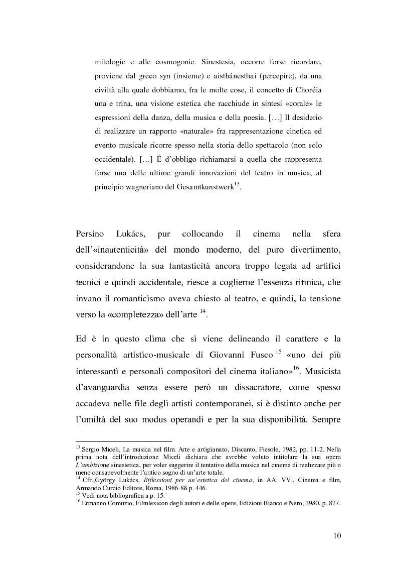 Anteprima della tesi: La musica per film e il cinema moderno. Giovanni Fusco tra Antonioni e Resnais, Pagina 7