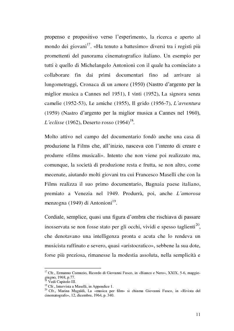 Anteprima della tesi: La musica per film e il cinema moderno. Giovanni Fusco tra Antonioni e Resnais, Pagina 8