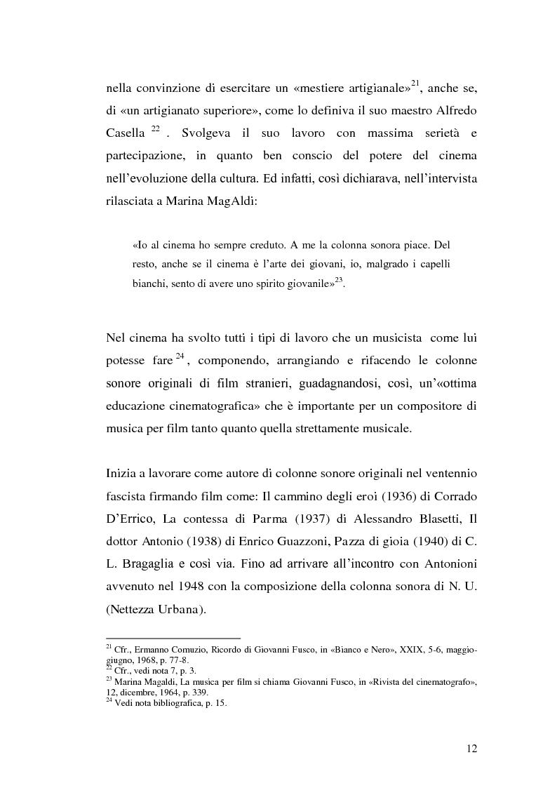 Anteprima della tesi: La musica per film e il cinema moderno. Giovanni Fusco tra Antonioni e Resnais, Pagina 9