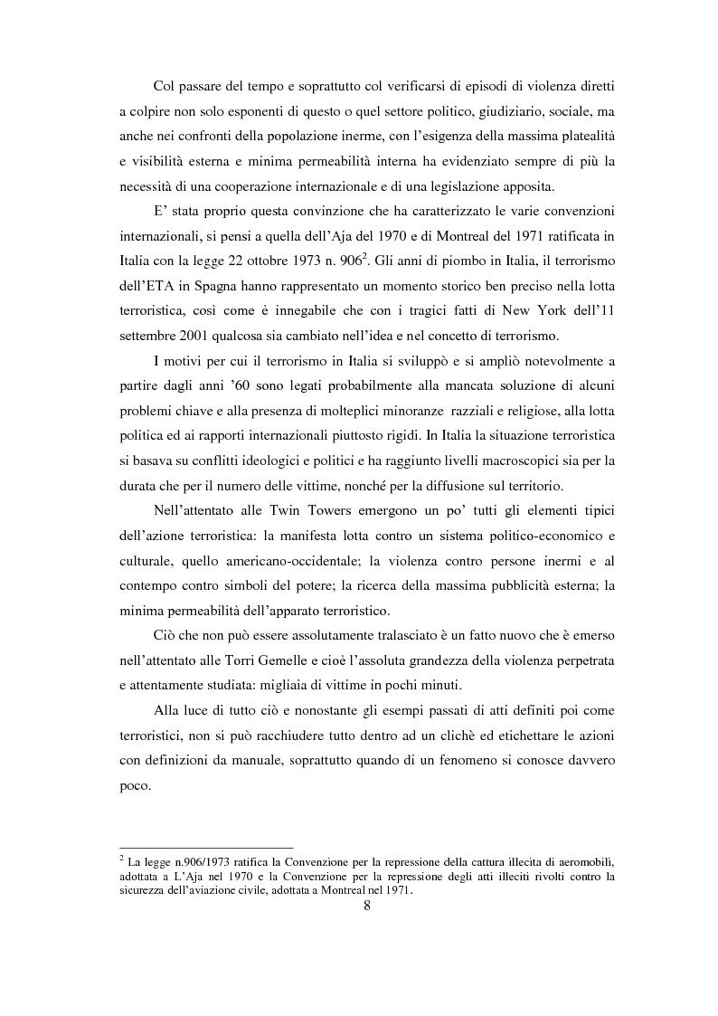 Anteprima della tesi: Bioterrorismo: antrace come strumento di aggressione. Aspetti psicologici del terrorismo, Pagina 5