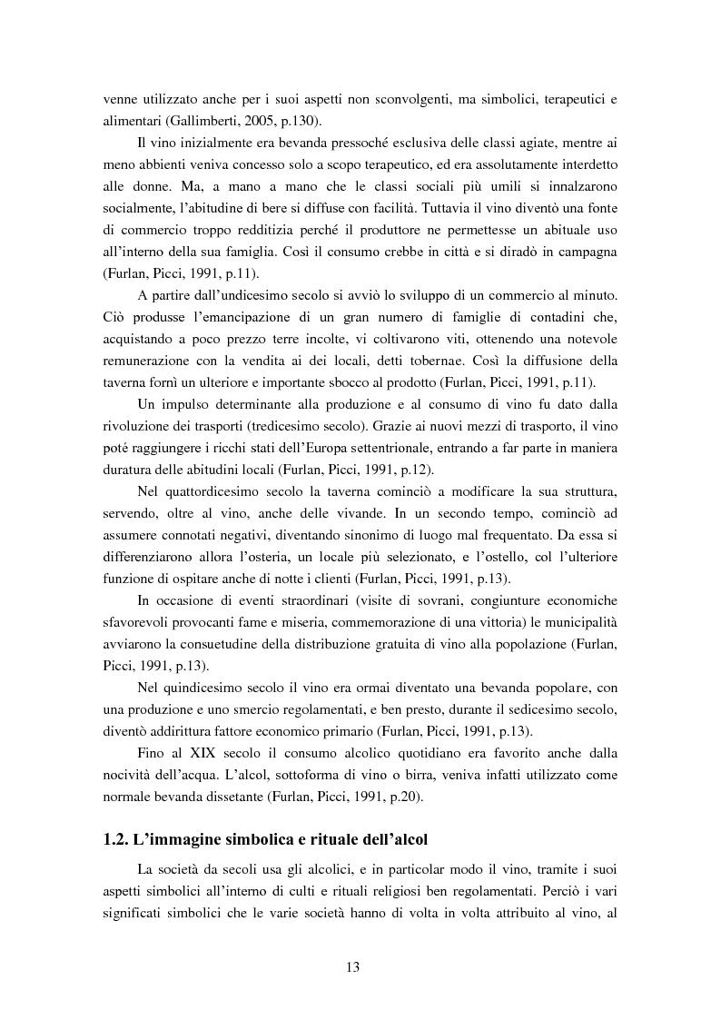 Anteprima della tesi: Giovani e alcol. Un approfondimento empirico nella realtà feltrina, Pagina 10