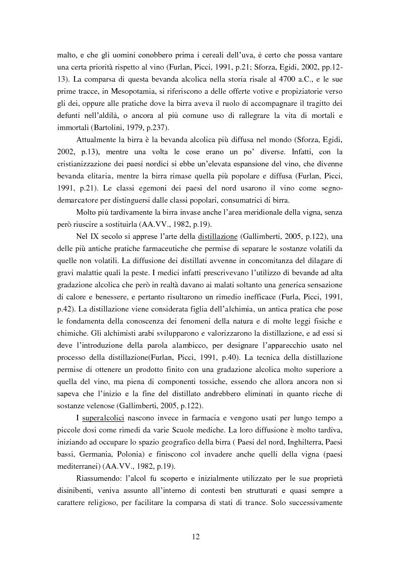 Anteprima della tesi: Giovani e alcol. Un approfondimento empirico nella realtà feltrina, Pagina 9