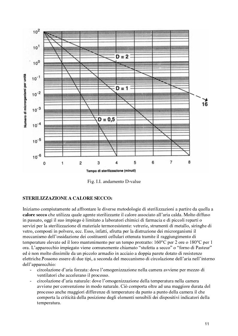 Anteprima della tesi: Verifiche dello stato di esercizio delle sterilizzatrici installate presso il Policlinico Umberto I, Pagina 10