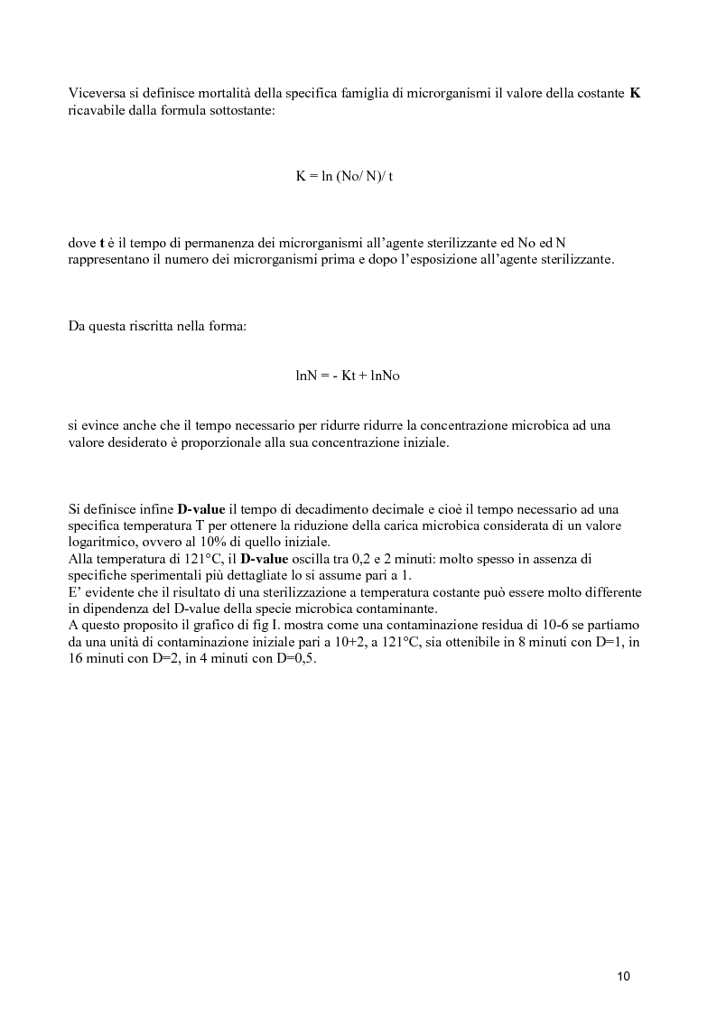 Anteprima della tesi: Verifiche dello stato di esercizio delle sterilizzatrici installate presso il Policlinico Umberto I, Pagina 9