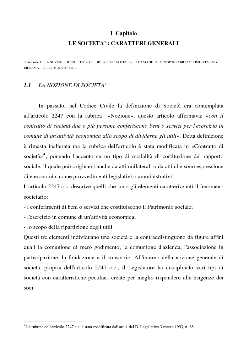 Anteprima della tesi: S.R.L. La partecipazione del socio attraverso l'assemblea e gli altri metodi di formazione delle decisioni: riflessi sulla redazione dello statuto., Pagina 2