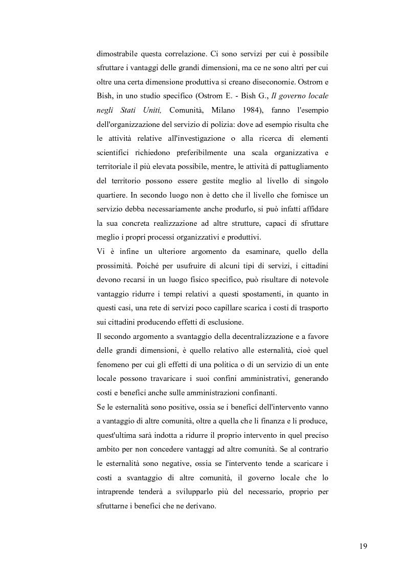 Anteprima della tesi: Principali problematiche di attuazione del disegno di federalismo fiscale in Italia, Pagina 16