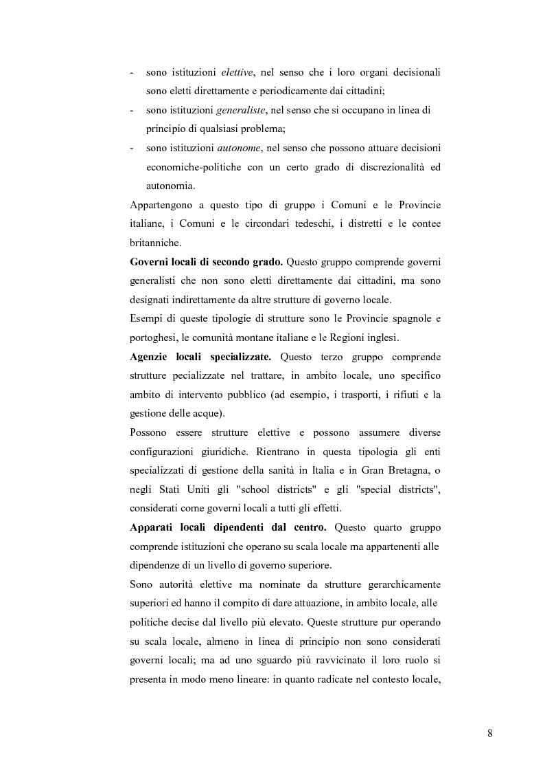 Anteprima della tesi: Principali problematiche di attuazione del disegno di federalismo fiscale in Italia, Pagina 5