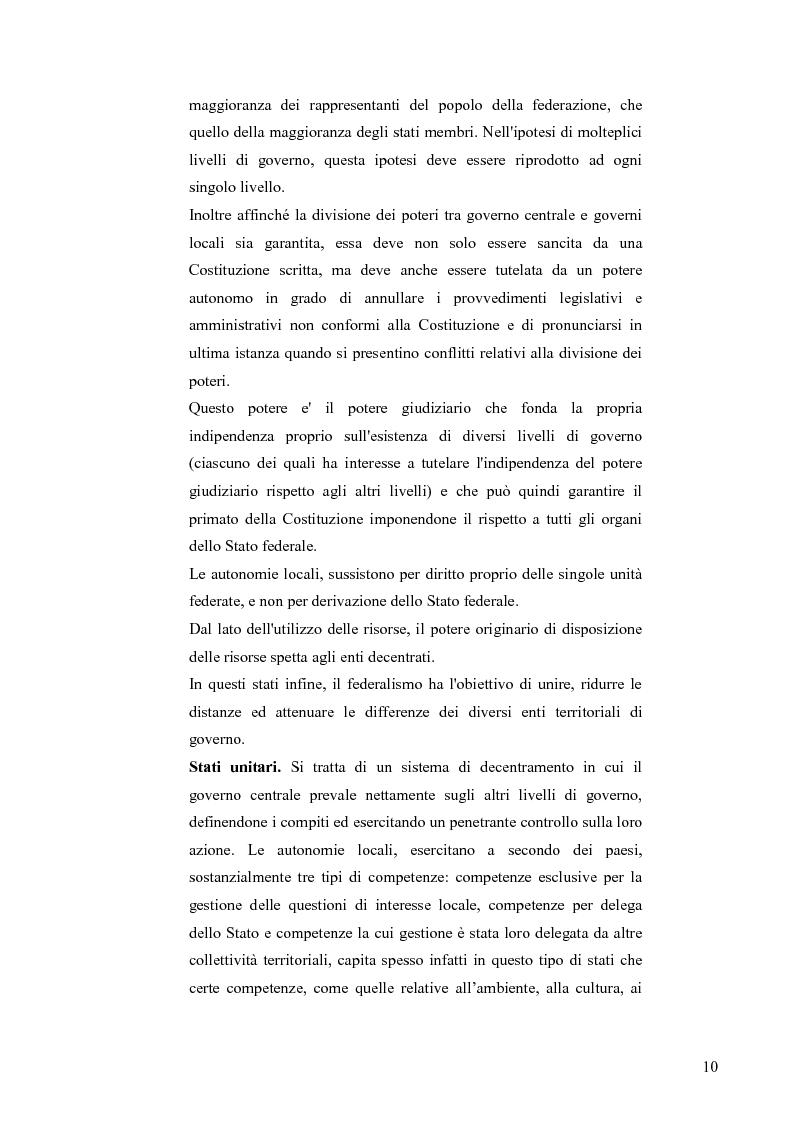 Anteprima della tesi: Principali problematiche di attuazione del disegno di federalismo fiscale in Italia, Pagina 7
