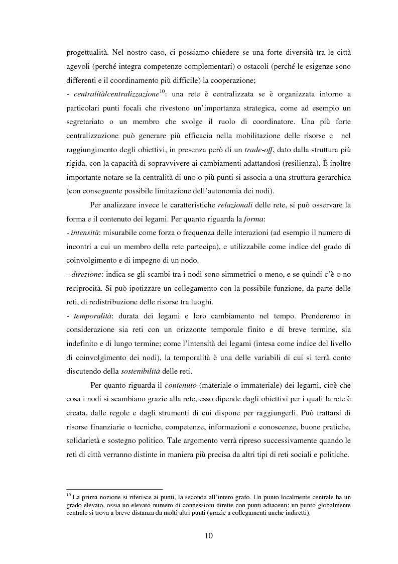Anteprima della tesi: Reti internazionali e cooperazione tra città: logiche e problematiche del networking attivo nella definizione di politiche e progetti urbani, Pagina 11