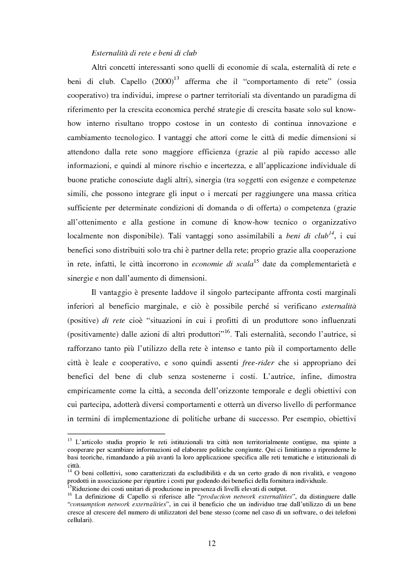 Anteprima della tesi: Reti internazionali e cooperazione tra città: logiche e problematiche del networking attivo nella definizione di politiche e progetti urbani, Pagina 13