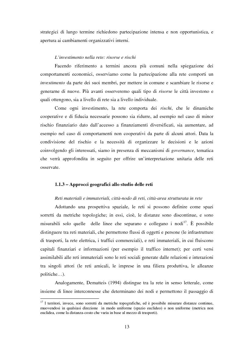 Anteprima della tesi: Reti internazionali e cooperazione tra città: logiche e problematiche del networking attivo nella definizione di politiche e progetti urbani, Pagina 14