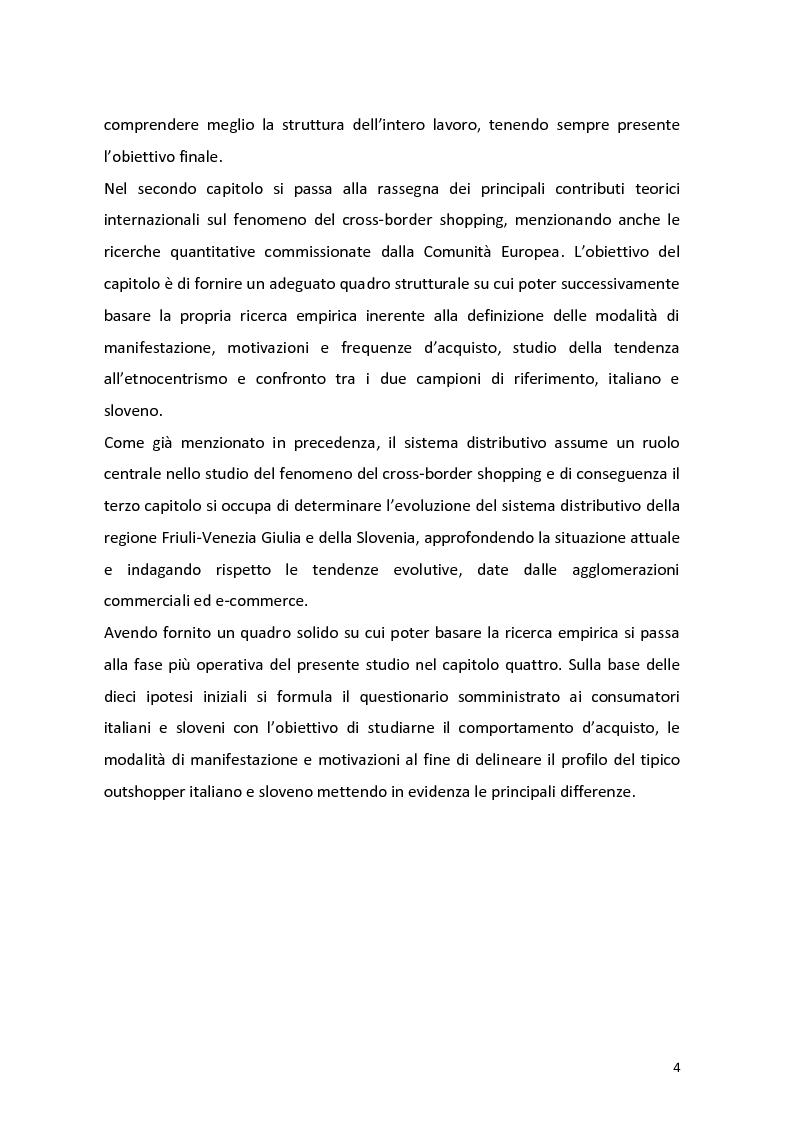 Anteprima della tesi: Outshopping: situazione attuale e tendenze evolutive. Una ricerca empirica al confine tra Friuli-Venezia Giulia e Slovenia, Pagina 5