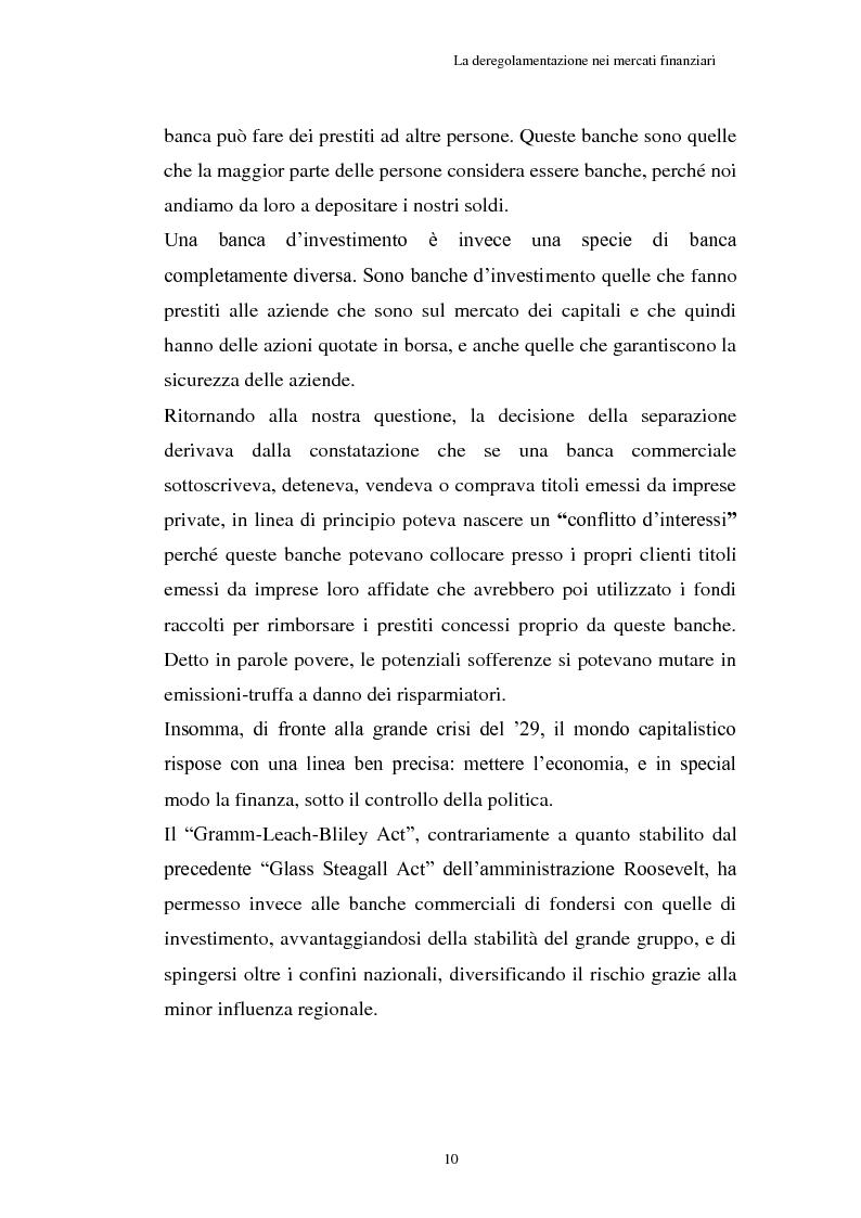 Anteprima della tesi: La Crisi connessa ai nuovi strumenti dell'innovazione finanziaria: il problema di una nuova regolamentazione globale, Pagina 11