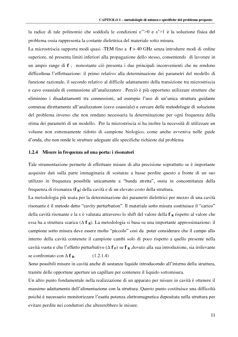 Anteprima della tesi: Spettroscopia dielettrica per la caratterizzazione morfologica di eritrociti umani, Pagina 13
