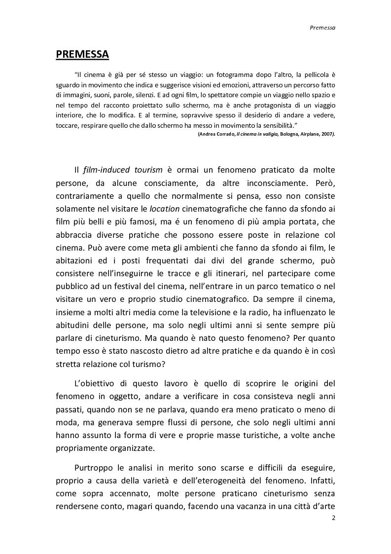 Anteprima della tesi: Sinergie tra turismo e cinema: un'analisi storica delle diverse forme del film-induced tourism, Pagina 2