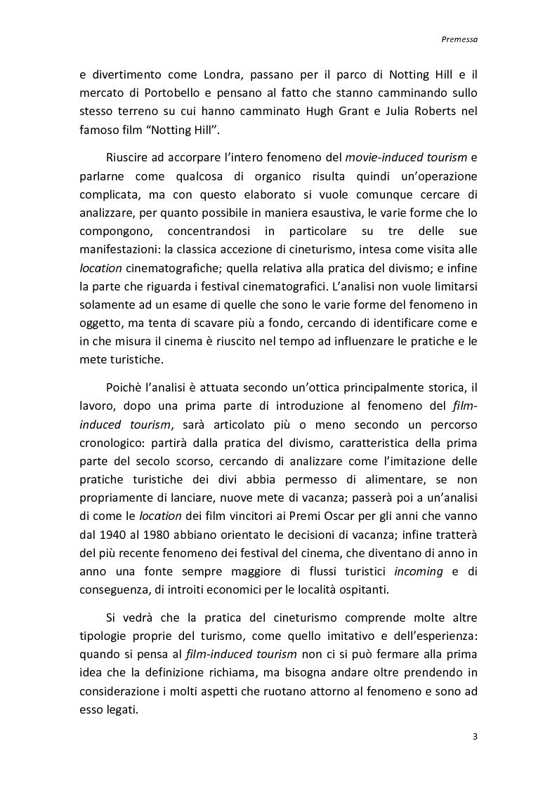 Anteprima della tesi: Sinergie tra turismo e cinema: un'analisi storica delle diverse forme del film-induced tourism, Pagina 3