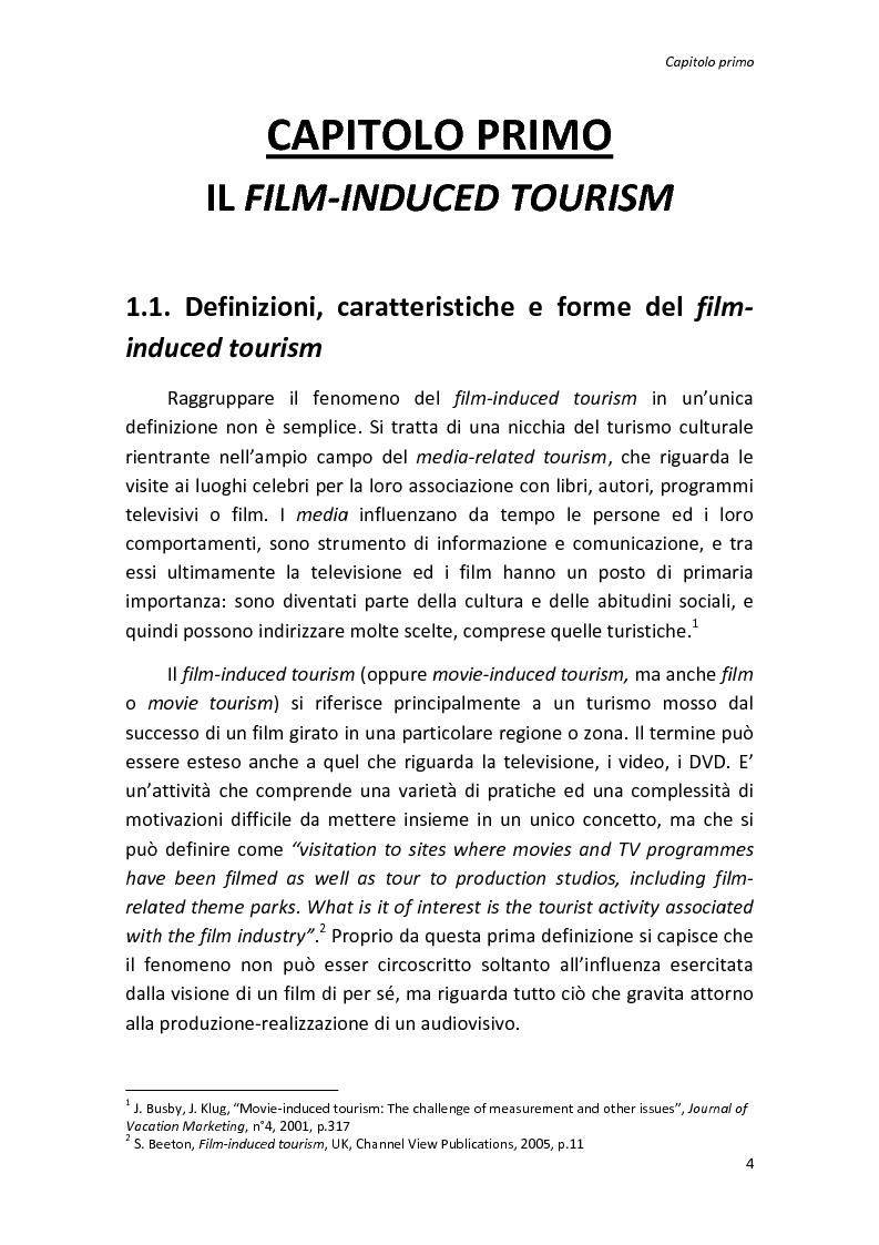 Anteprima della tesi: Sinergie tra turismo e cinema: un'analisi storica delle diverse forme del film-induced tourism, Pagina 4