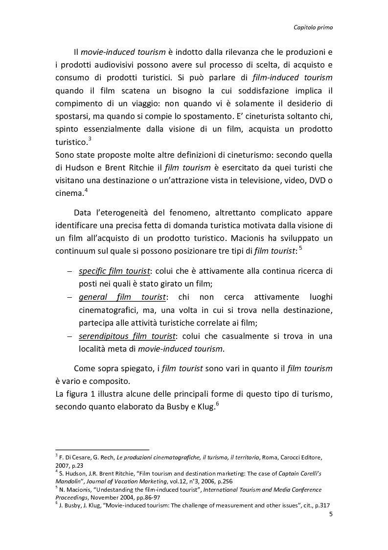 Anteprima della tesi: Sinergie tra turismo e cinema: un'analisi storica delle diverse forme del film-induced tourism, Pagina 5