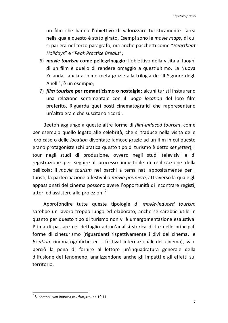 Anteprima della tesi: Sinergie tra turismo e cinema: un'analisi storica delle diverse forme del film-induced tourism, Pagina 7