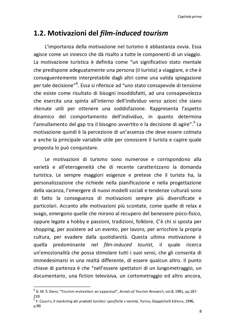 Anteprima della tesi: Sinergie tra turismo e cinema: un'analisi storica delle diverse forme del film-induced tourism, Pagina 8