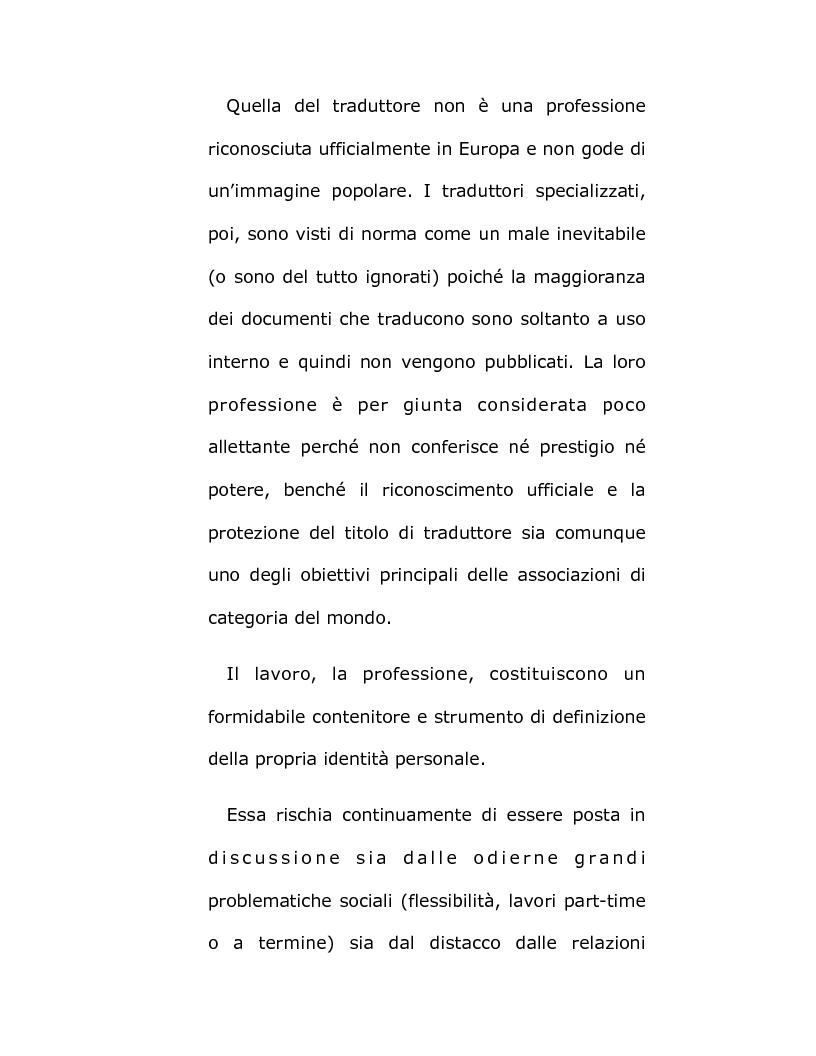 Anteprima della tesi: Il mondo da tradurre - Vita e professione di traduttori e interpreti, Pagina 7