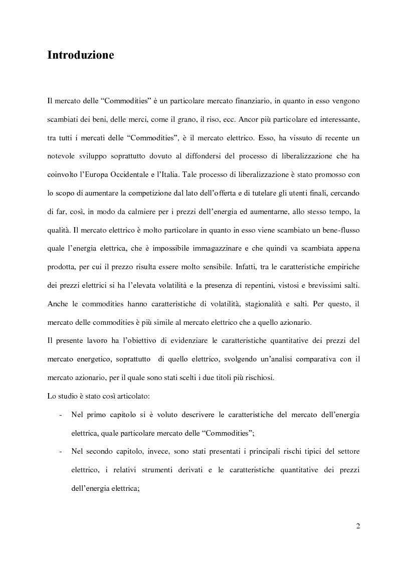 Anteprima della tesi: Analisi comparativa fra mercato azionario e mercato delle commodities, Pagina 2