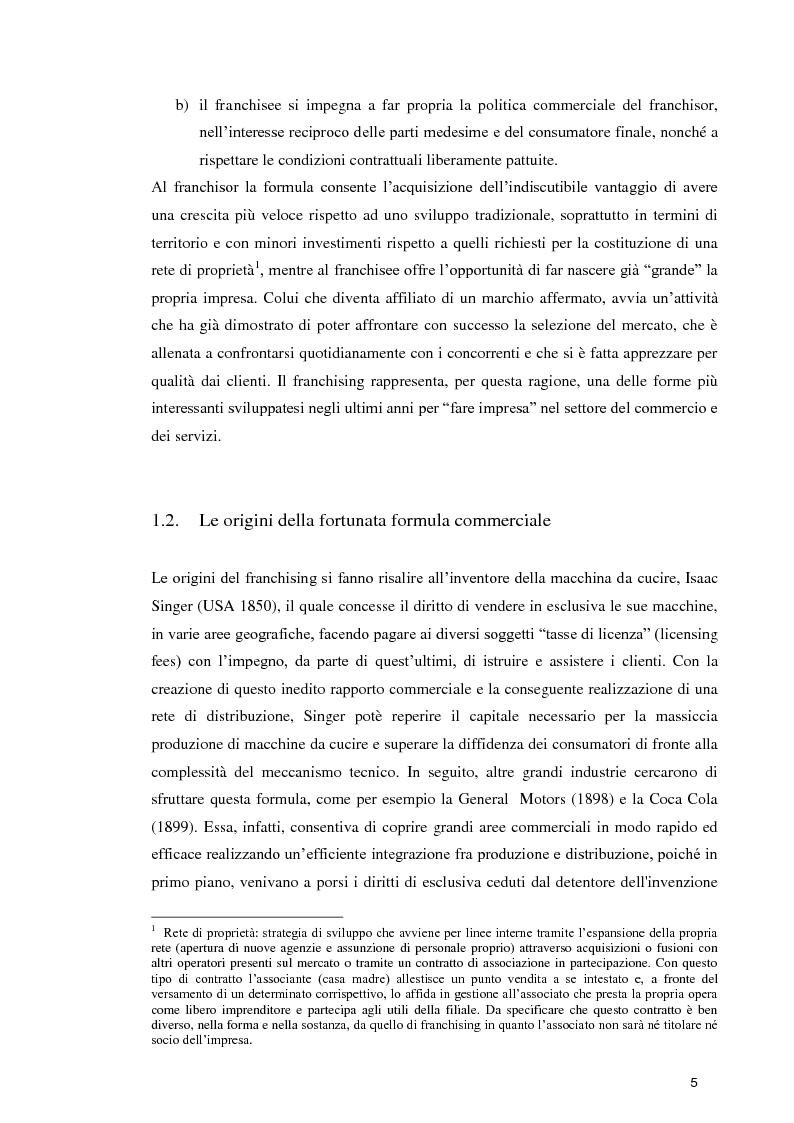 Anteprima della tesi: La formula Franchising nelle agenzie di viaggio. Profili giuridici ed aspetti contabili, Pagina 3