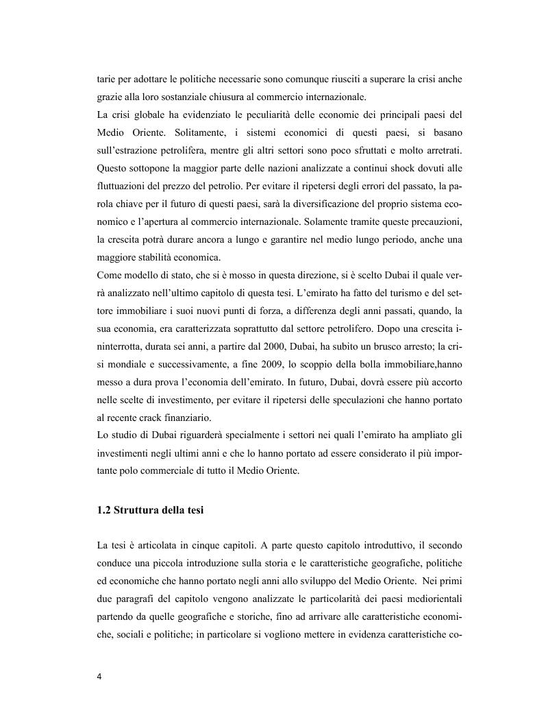 Anteprima della tesi: Il Medio Oriente: quadro macroeconomico e il caso Dubai, Pagina 3