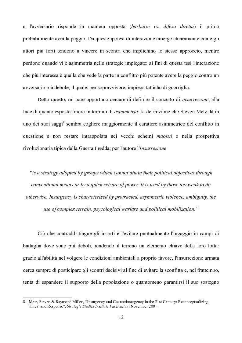 Anteprima della tesi: Vincere la Pace - La Guerra d'Iraq paradigma dell'insurrezione contemporanea, Pagina 7