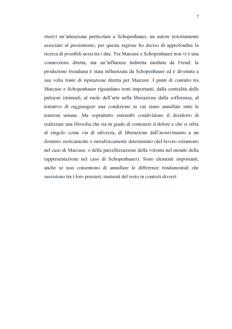 Anteprima della tesi: Il piacere e la critica della società in Marcuse, Pagina 5