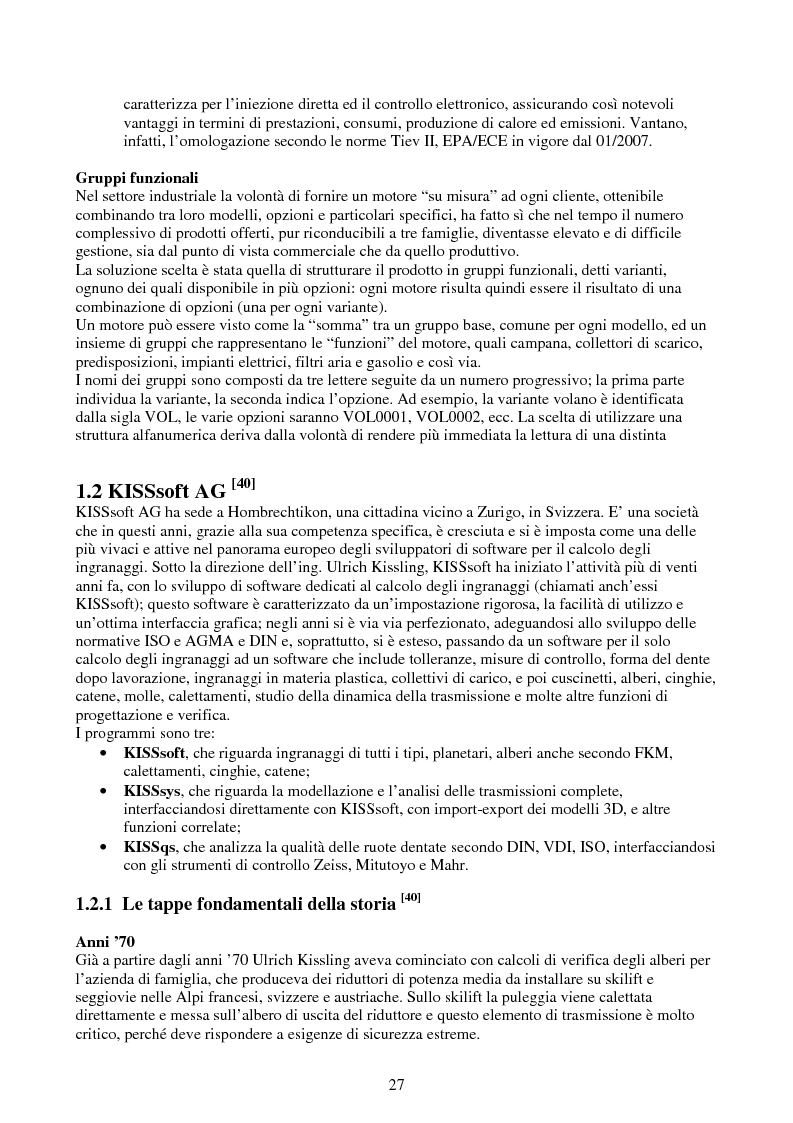 Anteprima della tesi: Verifica e ottimizzazione della distribuzione ad ingranaggi dei motori industriali e marini VM serie D, R, MD e MR con i software KISSsoft e KISSsys, Pagina 12