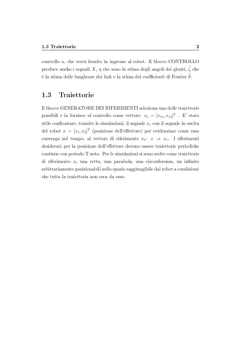 Anteprima della tesi: Verifica simulativa di un controllo ad apprendimento per un braccio robotico con dinamica e cinematica incerte, Pagina 3