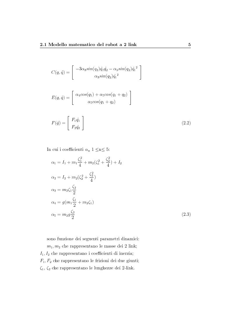 Anteprima della tesi: Verifica simulativa di un controllo ad apprendimento per un braccio robotico con dinamica e cinematica incerte, Pagina 6