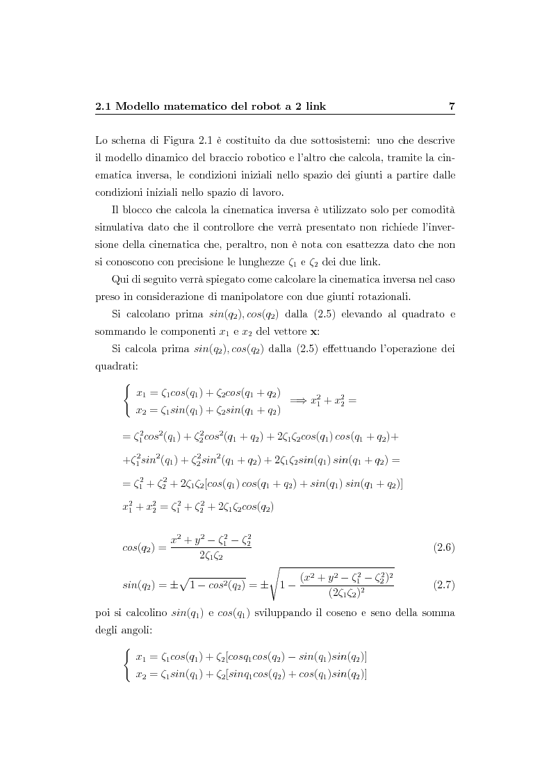 Anteprima della tesi: Verifica simulativa di un controllo ad apprendimento per un braccio robotico con dinamica e cinematica incerte, Pagina 8