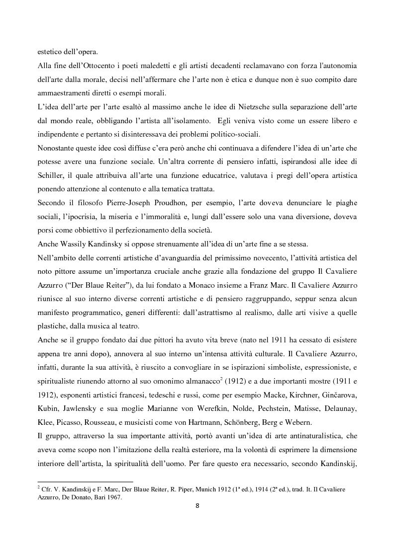 """Anteprima della tesi: La """"Spiritualità"""" tra cinema e arti elettroniche nel dibattito contemporaneo sull'arte, Pagina 6"""