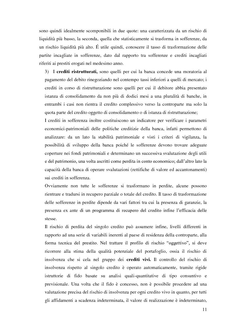 Anteprima della tesi: Le sofferenze bancarie in Italia. Un modello econometrico di analisi e previsione, Pagina 10