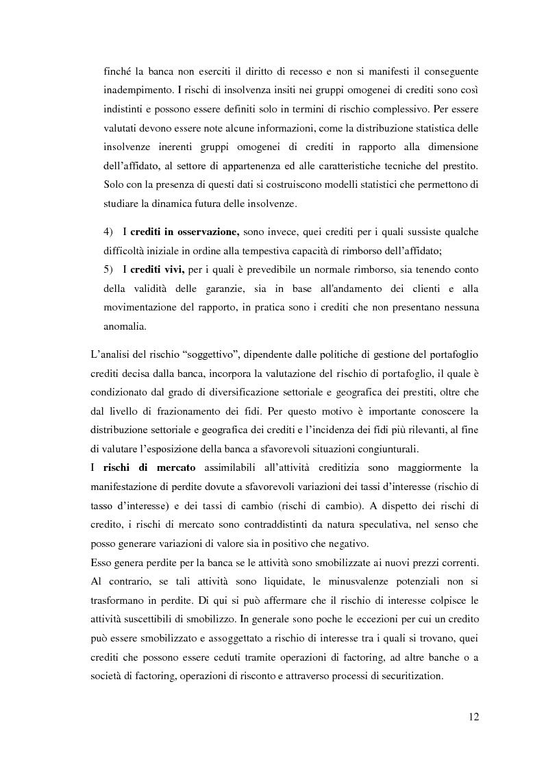 Anteprima della tesi: Le sofferenze bancarie in Italia. Un modello econometrico di analisi e previsione, Pagina 11