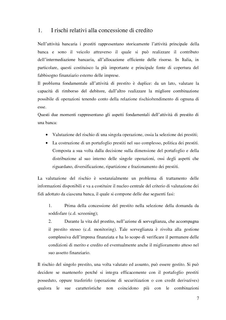 Anteprima della tesi: Le sofferenze bancarie in Italia. Un modello econometrico di analisi e previsione, Pagina 6