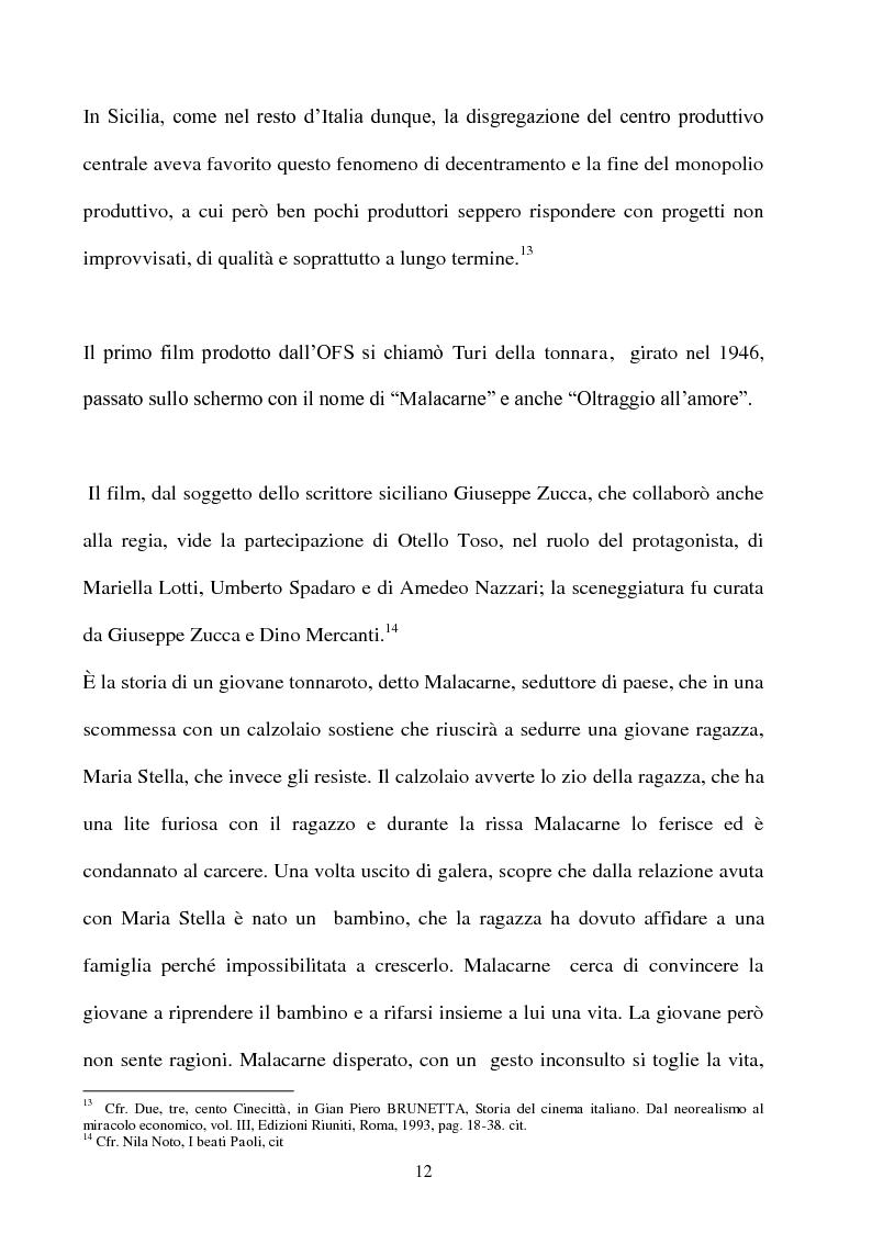 Anteprima della tesi: Produzione cinematografica in Sicilia: il caso della Panaria Film 1946-1955, Pagina 11