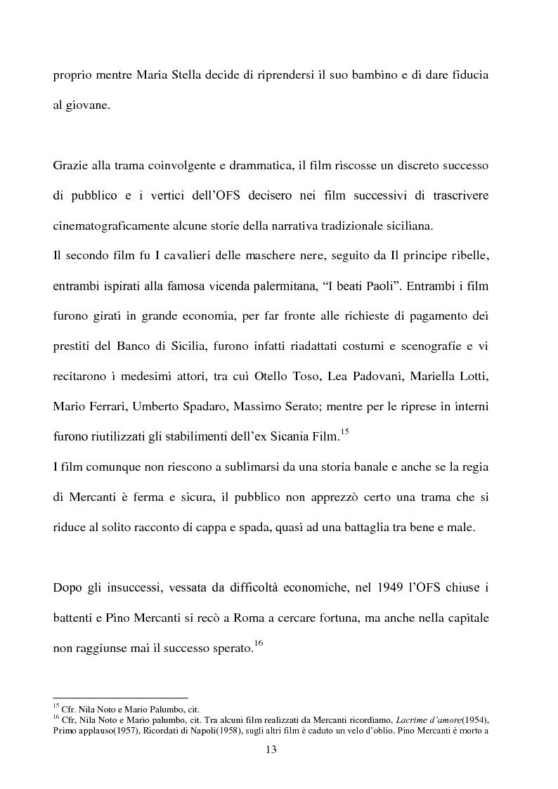 Anteprima della tesi: Produzione cinematografica in Sicilia: il caso della Panaria Film 1946-1955, Pagina 12