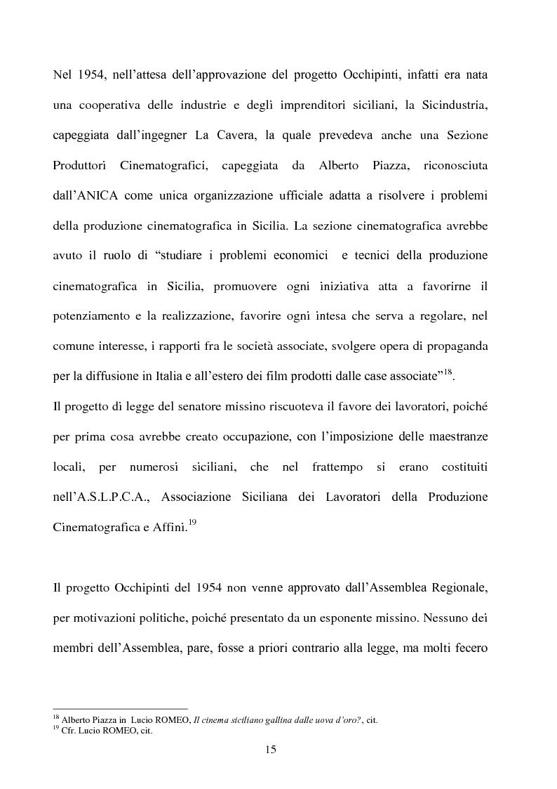 Anteprima della tesi: Produzione cinematografica in Sicilia: il caso della Panaria Film 1946-1955, Pagina 14
