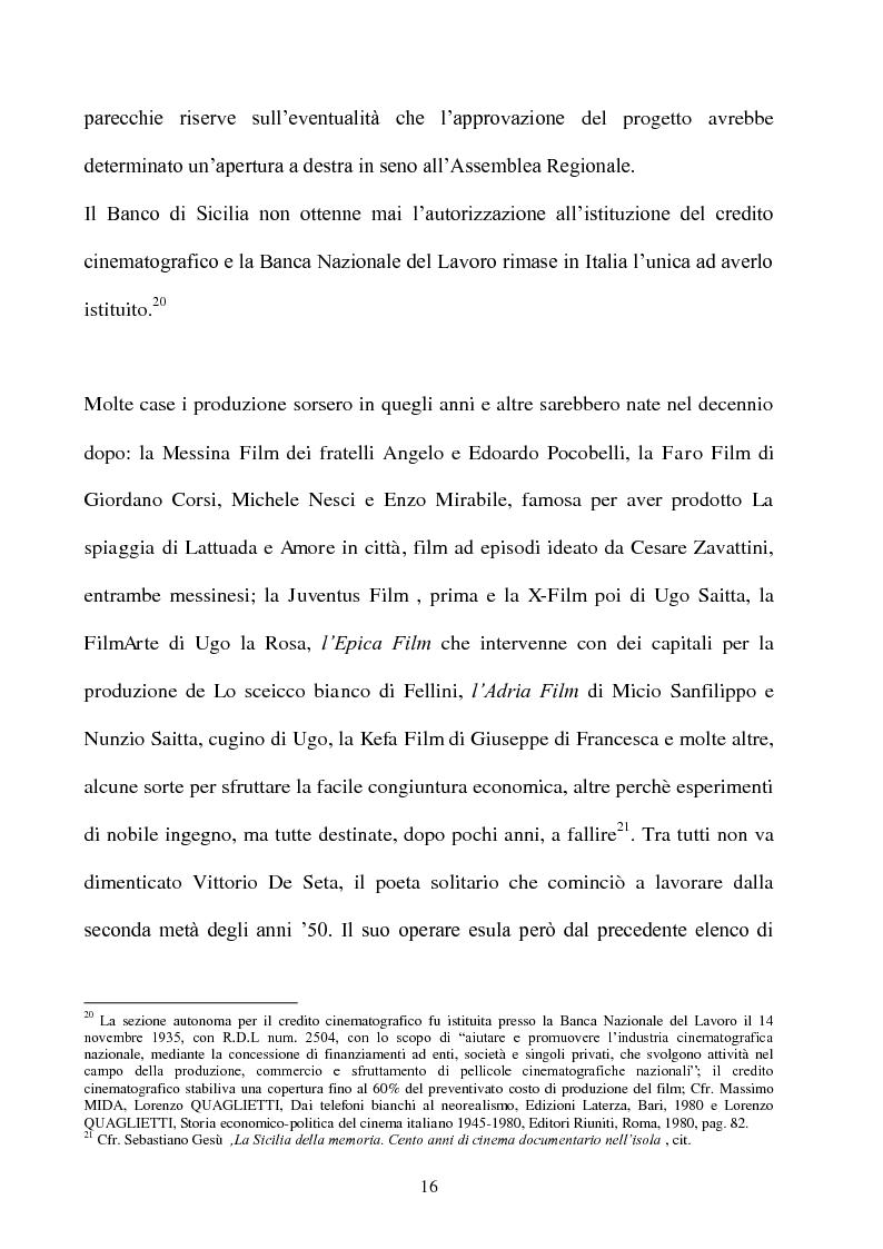 Anteprima della tesi: Produzione cinematografica in Sicilia: il caso della Panaria Film 1946-1955, Pagina 15