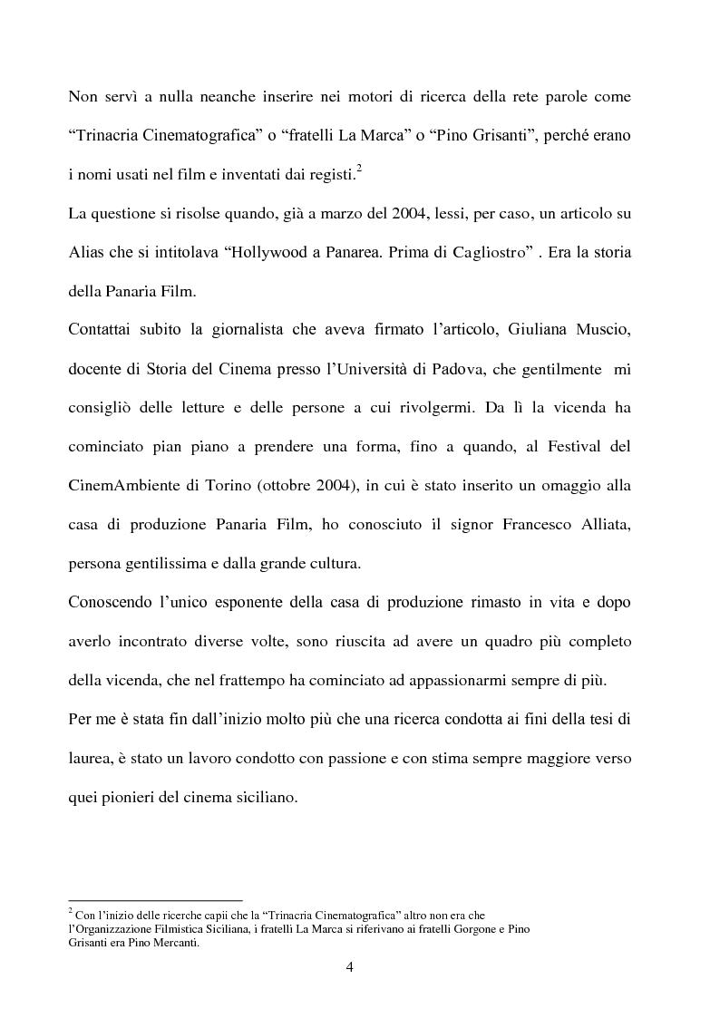 Anteprima della tesi: Produzione cinematografica in Sicilia: il caso della Panaria Film 1946-1955, Pagina 3
