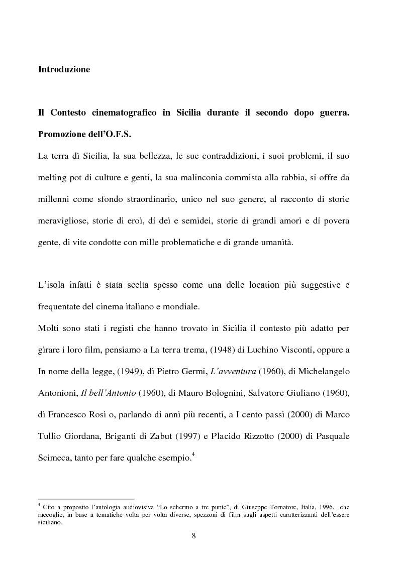 Anteprima della tesi: Produzione cinematografica in Sicilia: il caso della Panaria Film 1946-1955, Pagina 7