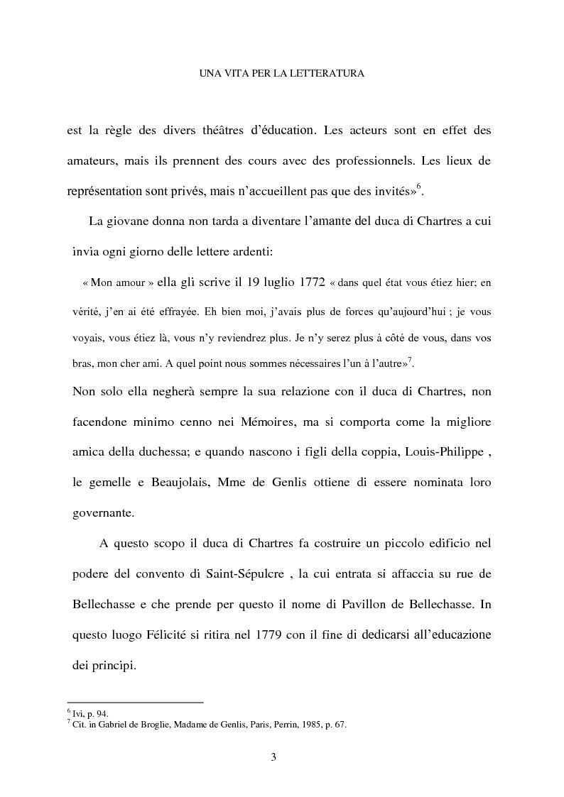 Anteprima della tesi: Mme de Genlis e il difficile mestiere di scrittrice, Pagina 4