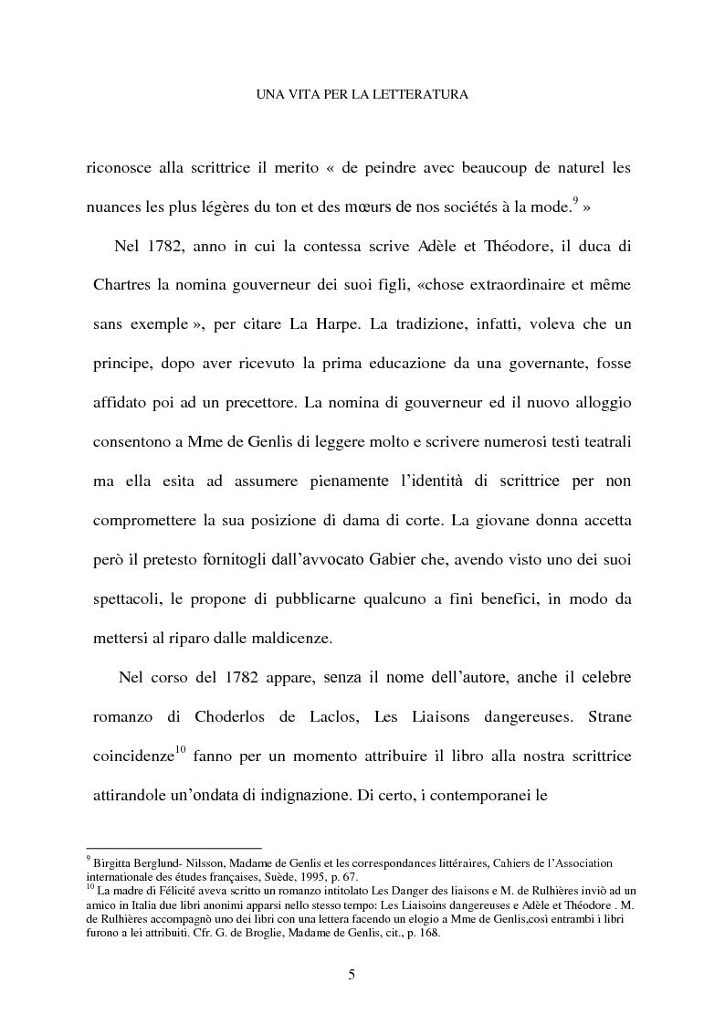 Anteprima della tesi: Mme de Genlis e il difficile mestiere di scrittrice, Pagina 6