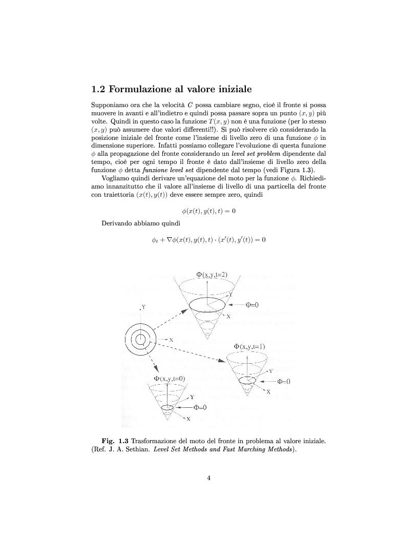 Anteprima della tesi: Algoritmi veloci per l'evoluzione dei fronti con applicazioni alla segmentazione di immagini, Pagina 6