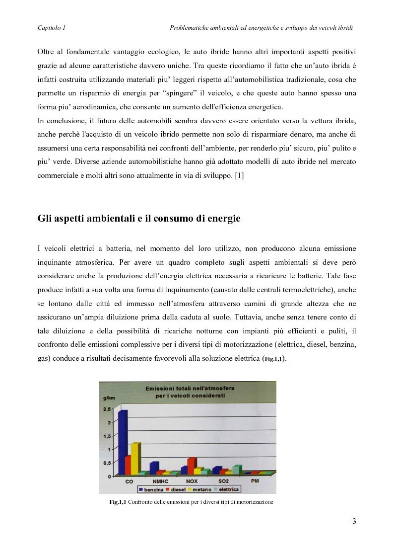 Anteprima della tesi: Sintesi e simulazione di un modello per la gestione dei flussi energetici in un veicolo ibrido., Pagina 6